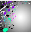 musical background note vector image