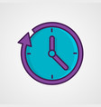 round the clock flat style icon vector image