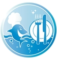 symbol of the fish dish vector image