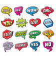 web chat stickers templates internet words vector image