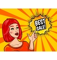 Pop Art Sale Background vector image vector image