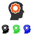 human mind flat icon vector image