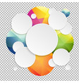 colorful speech bubbles with transparent vector image