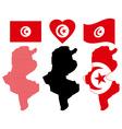 Map of Tunisia vector image