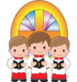 altar boys vector image vector image