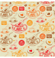 Vintage Tea Pots Pattern vector image vector image