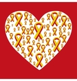 World Hepatitis Day 28 July yellow red ribbon vector image