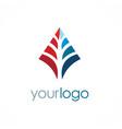 arrow geometry business logo vector image