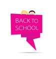 back to school with kids color vector image