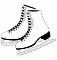 Figure white skates vector image