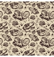 Fossil seamless pattern with dinosaur bones vector image