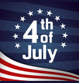fourth of july retro poster template vector image
