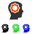 human mind flat icon vector image