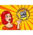 Pop Art Sale Background vector image