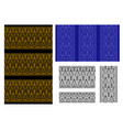 seamless thai tribal pattern and border vector image