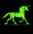 Fair Unicorn Run Green 01 vector image