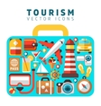 Travel holiday vacation concept with flat tourism vector image
