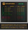 digital colorful airport board template vector image