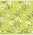 abstract tropical leaves and flowers seamless vector image vector image