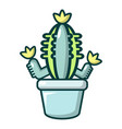 hug cactus icon cartoon style vector image