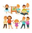 children kindergarten or school playing activity vector image