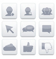 white social Network app icon set Eps10 vector image vector image