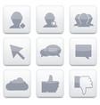 white social Network app icon set Eps10 vector image