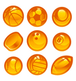 Gold Sport Ball Icons vector image vector image