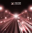 copper tint night road vector image vector image