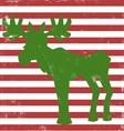 moose greeting card vintage vector image