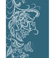Abstract lace with elements ofv flowers leaves and vector image vector image