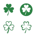 green clovers icons set vector image