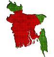 Bangladesh map with flag inside vector image