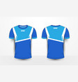 blue and white sport football kits jersey t-shirt vector image