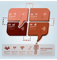 Business Infographic With Communication Speech vector image