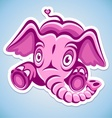 Cartoon pink elephant vector image