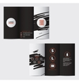 graphic elegant abstract business brochure vector image