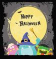 Halloween Monsters Card vector image