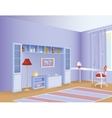 Kid room vector image