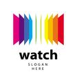Logo range of colored folders vector image