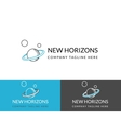New horizons business logo design in three colors vector image