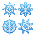Set of variation snowflakes isolated vector image