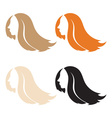 Silhouette beauty woman with hair vector image