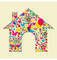 Spring time house vector image