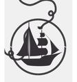 boat wood marine icon vector image