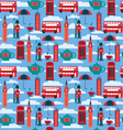 background with London landmarks and Britain vector image