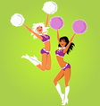 Cheerleaders vector image