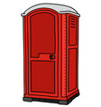 red plastic mobile toilet vector image