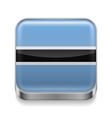 Metal icon of Botswana vector image