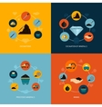 Mining icons flat composition vector image